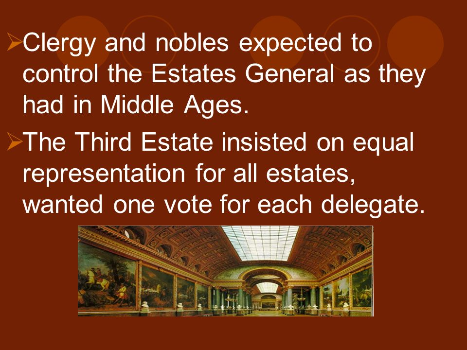 Clergy and nobles expected to control the Estates General as they had in Middle Ages.
