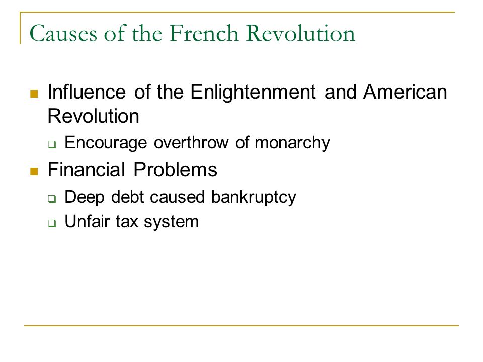 causes of the french revelution Learn about the bloody french revolution and the effect its outcome had on society and politics in france and europe.