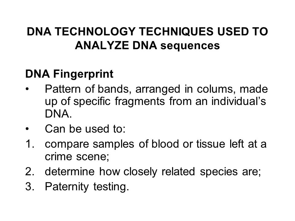 DNA TECHNOLOGY the new genetics ppt download – Dna Technology Worksheet