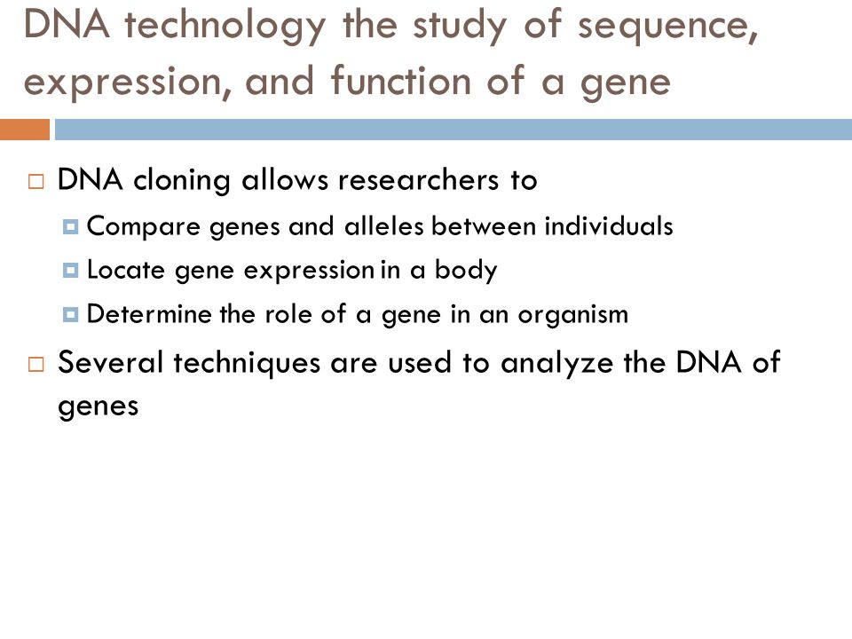 an analysis of the topic of the genetic cloning Gene cloning also allows researchers to isolate and experiment on the genes  private clinics and other organizations that are not subject to federal regulations  and possibly therapeutic cloning, depending the interpretation of the statute.