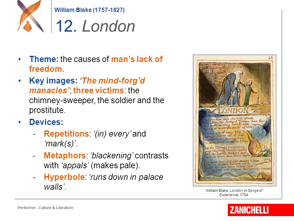 a comparison of william blakes poem the chimney sweeper and london