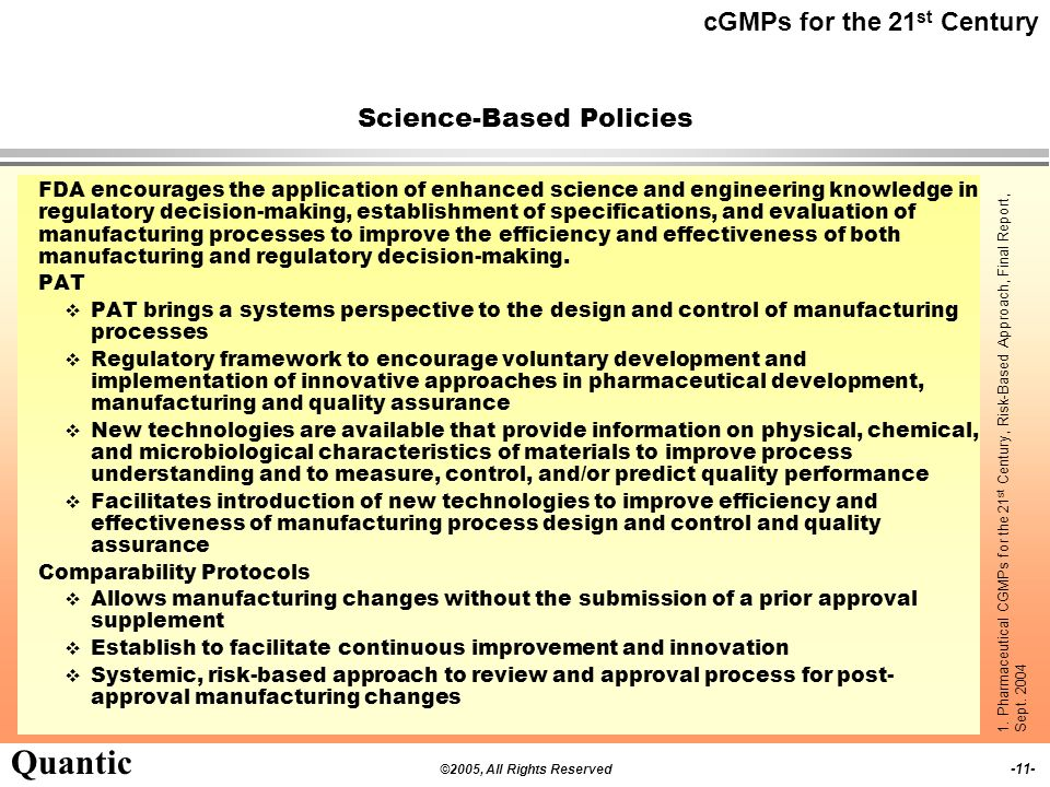 Science-Based Policies