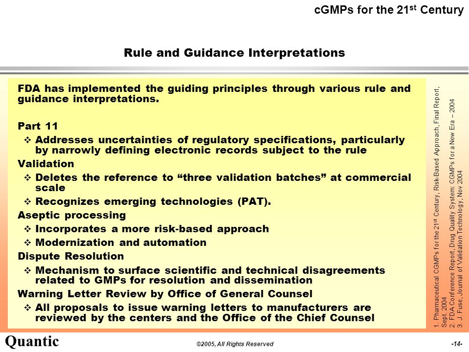 Rule and Guidance Interpretations