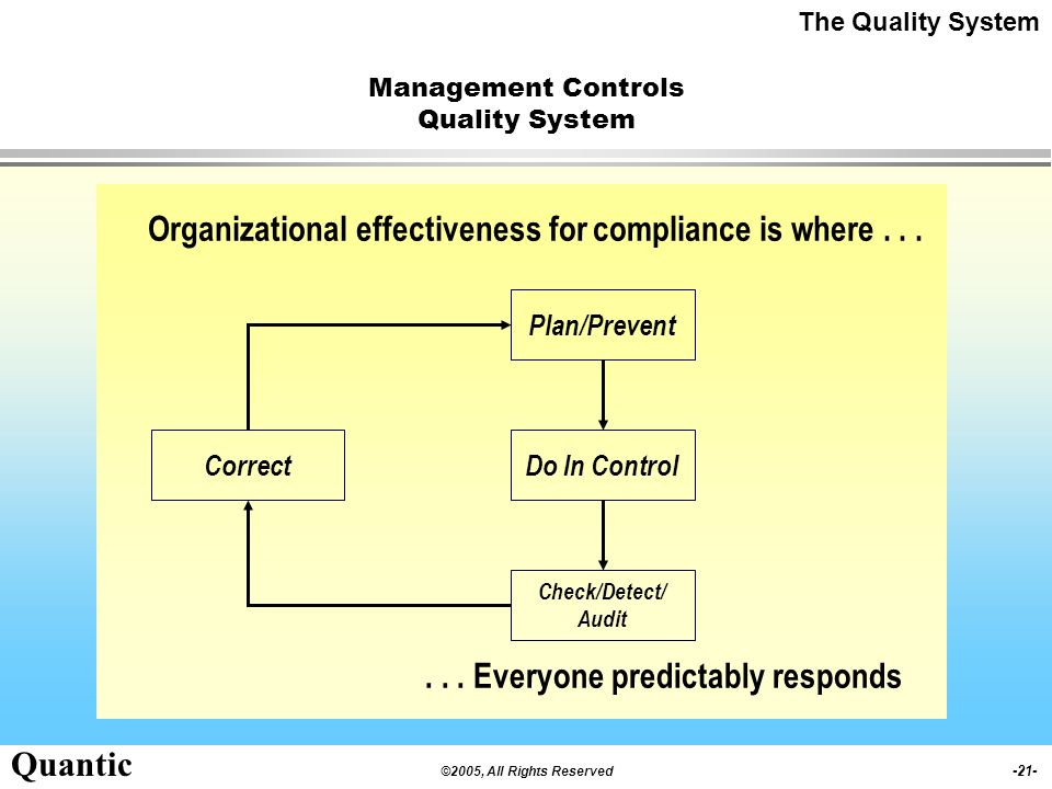Management Controls Quality System