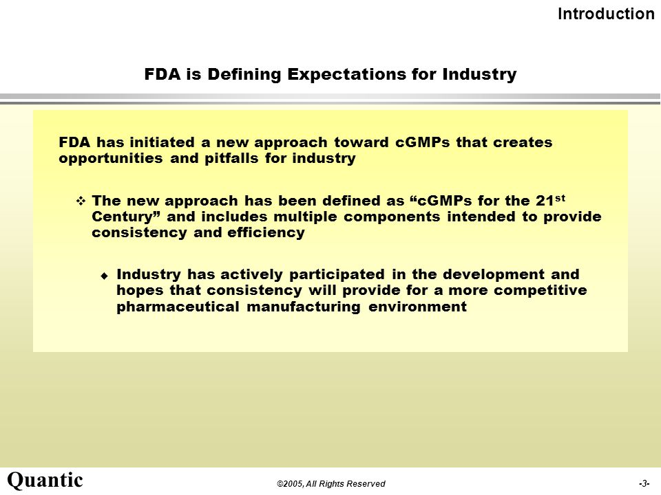 FDA is Defining Expectations for Industry