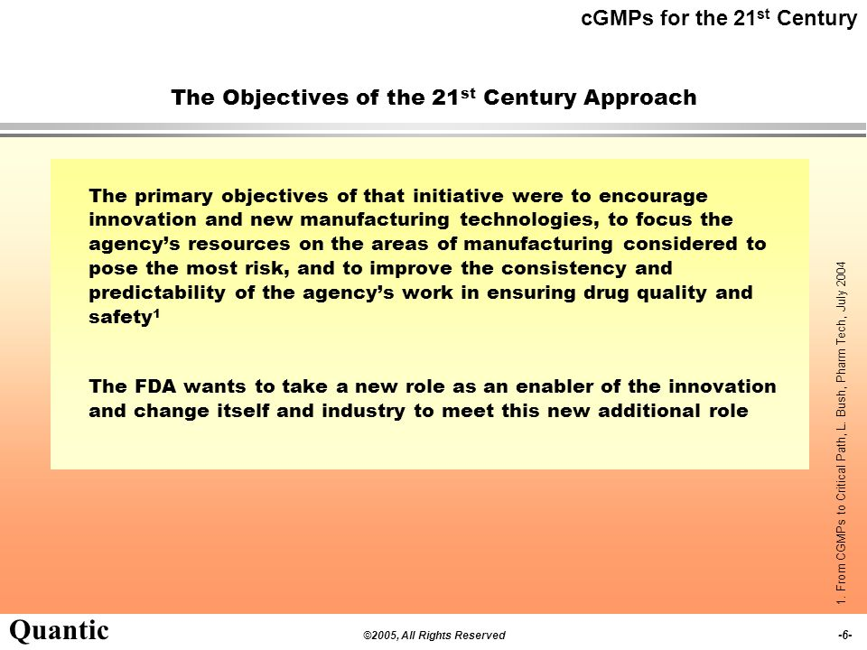 The Objectives of the 21st Century Approach