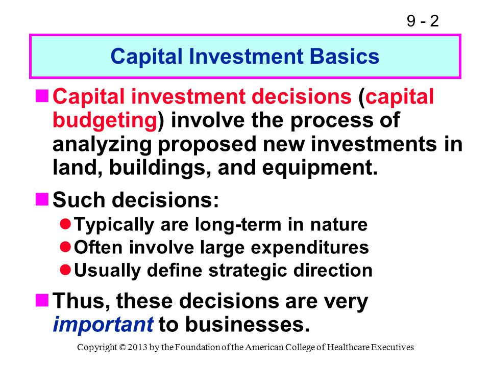 intels capital budgeting decision in 2013 Capital budgeting is a step by step process that businesses use to determine the merits of an investment project the decision of whether to accept or deny an investment project as part of a .