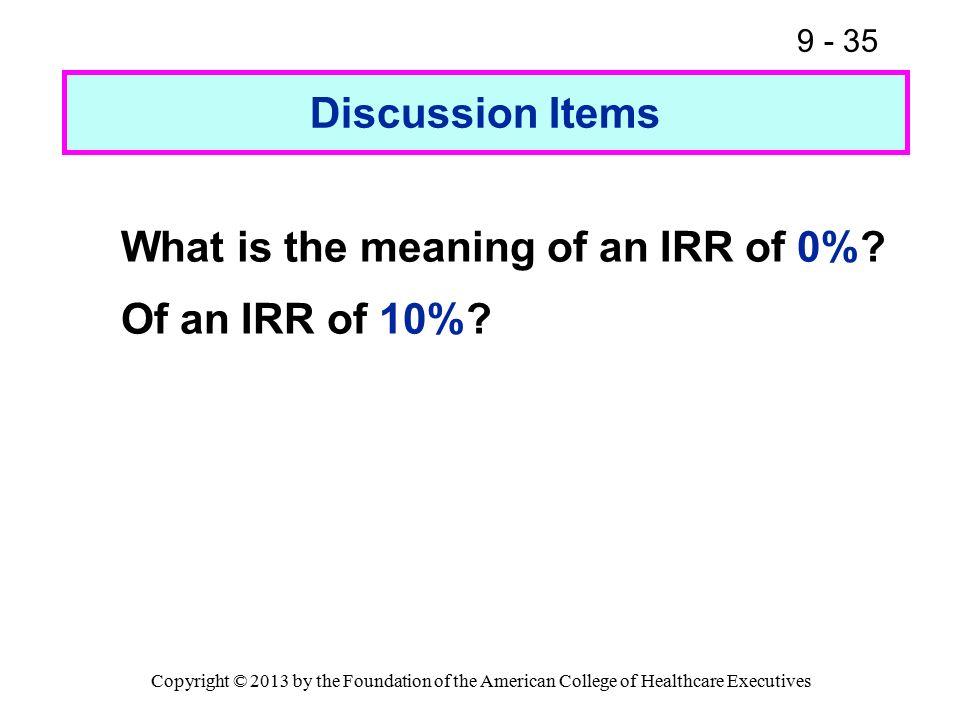 calculate internal rate of return manually