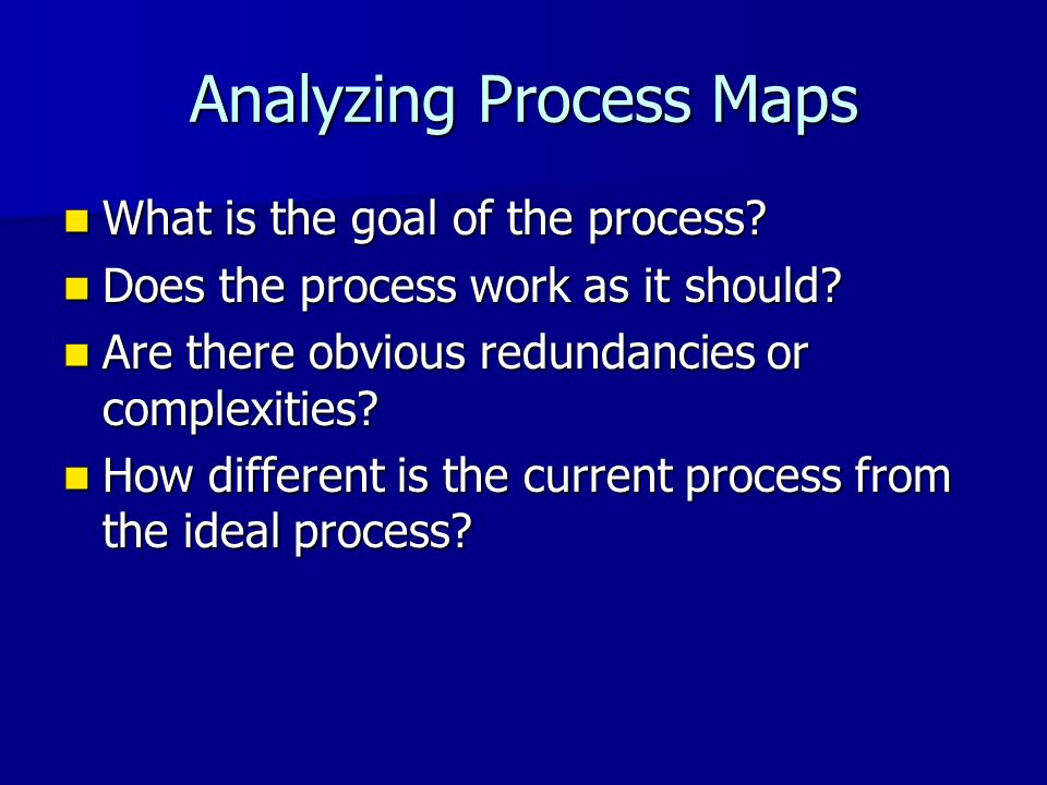 Analyzing Process Maps