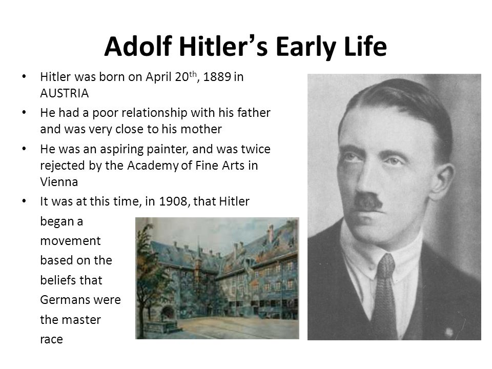 The early education and influences of adolf hitler