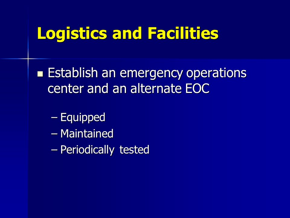 Logistics and Facilities
