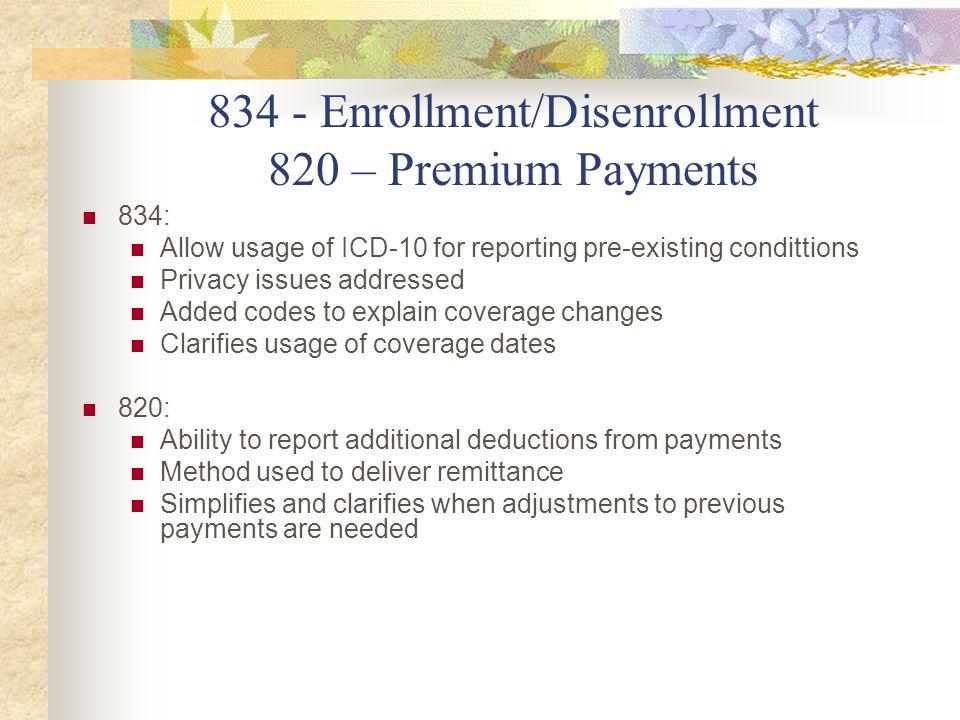 834 - Enrollment/Disenrollment