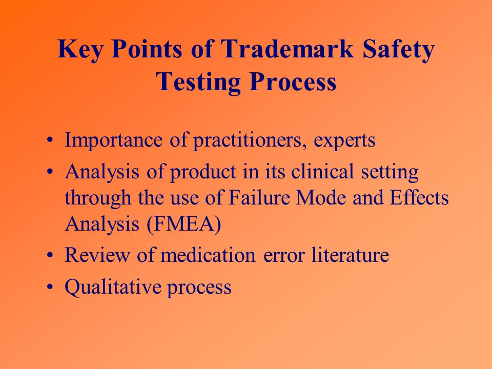 Key Points of Trademark Safety Testing Process