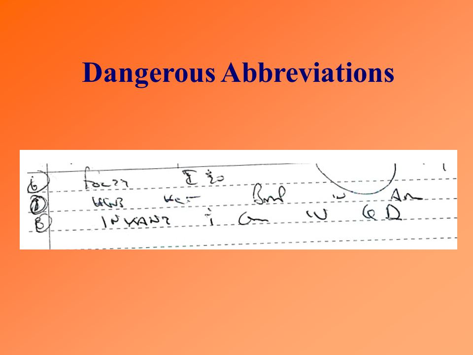 Dangerous Abbreviations