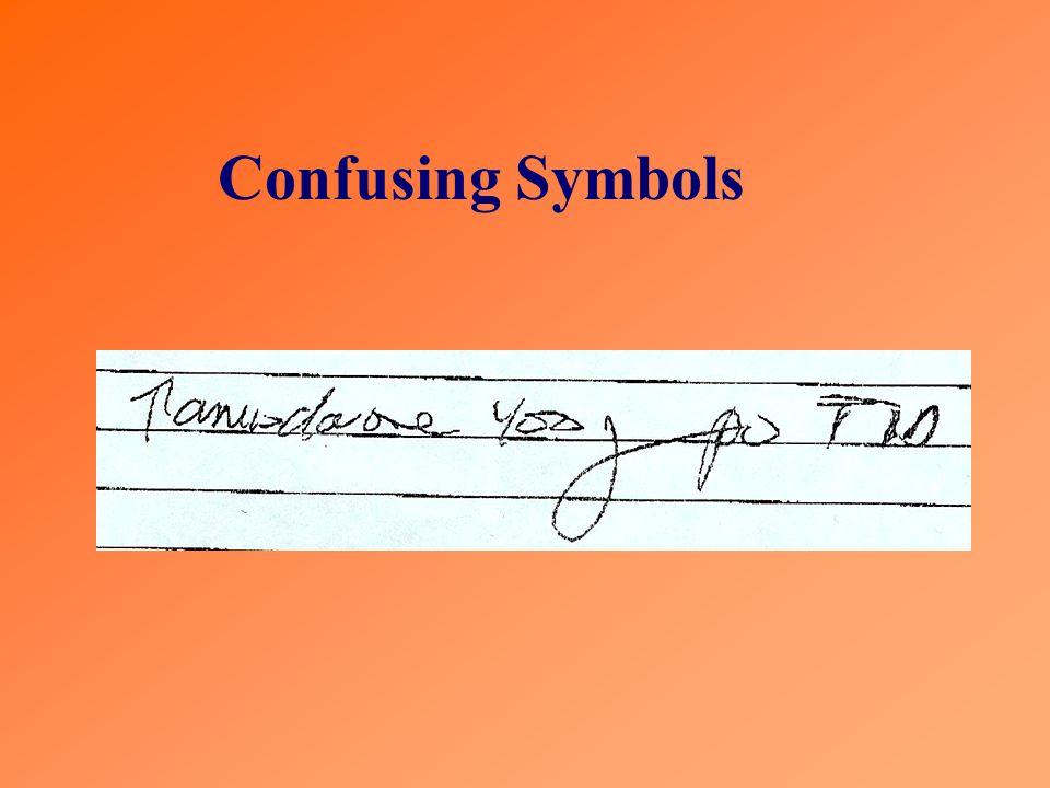 Confusing Symbols