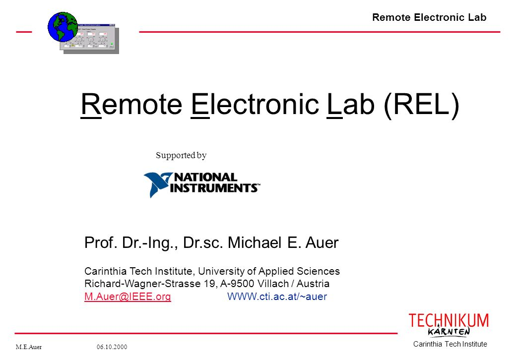 Remote Electronic Lab (REL)