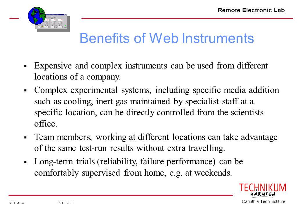 Benefits of Web Instruments