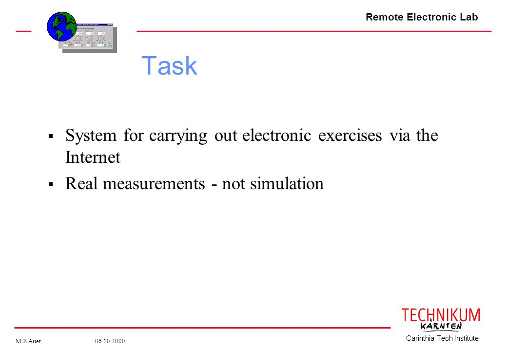 Task System for carrying out electronic exercises via the Internet