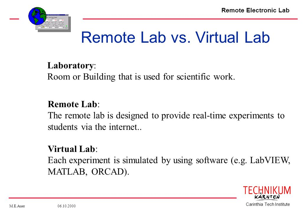 Remote Lab vs. Virtual Lab