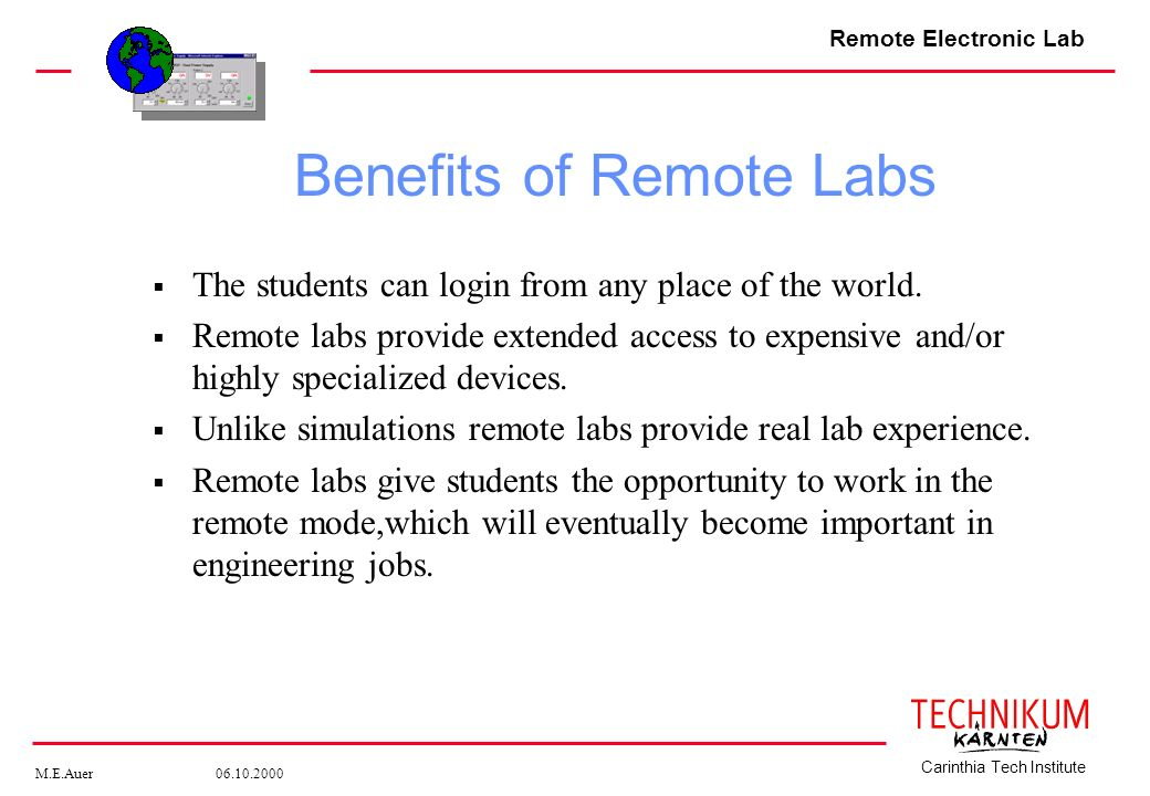 Benefits of Remote Labs