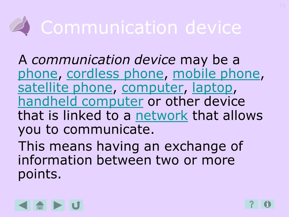 Communication device