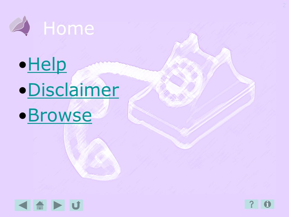 Home Help Disclaimer Browse