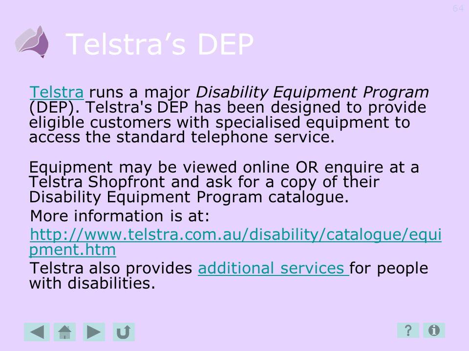 Telstra's DEP