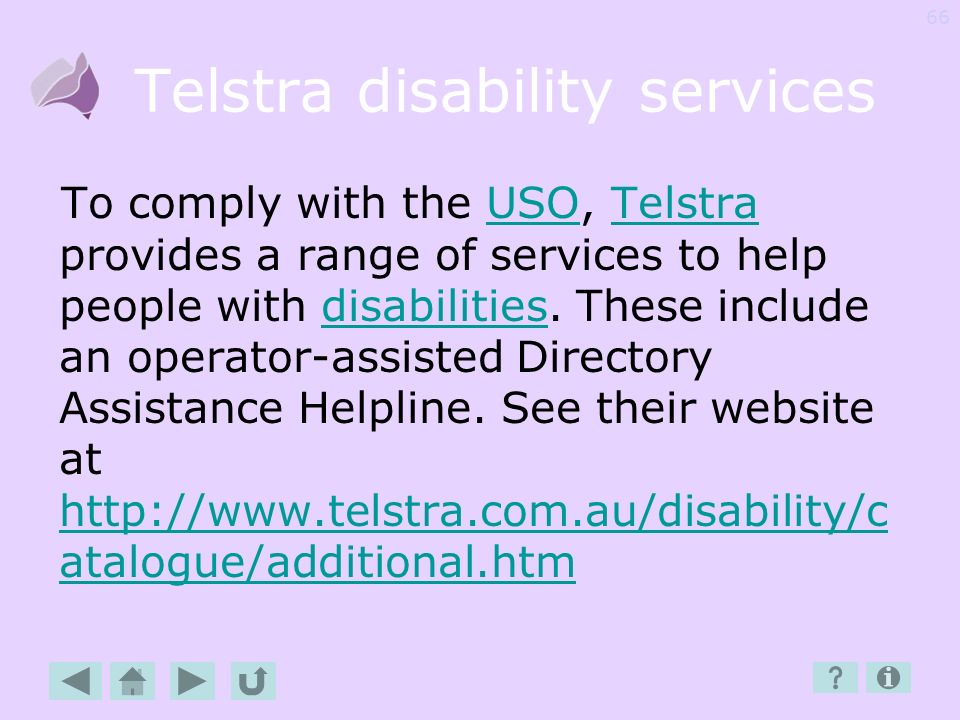 Telstra disability services