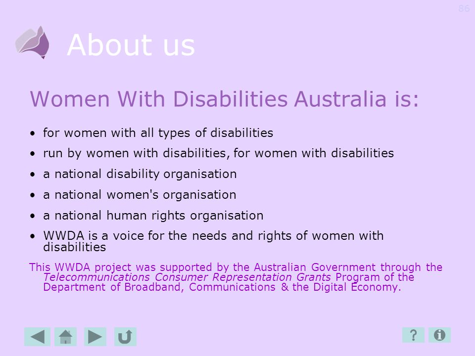 About us Women With Disabilities Australia is: