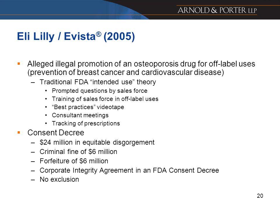 Eli Lilly / Evista® (2005)