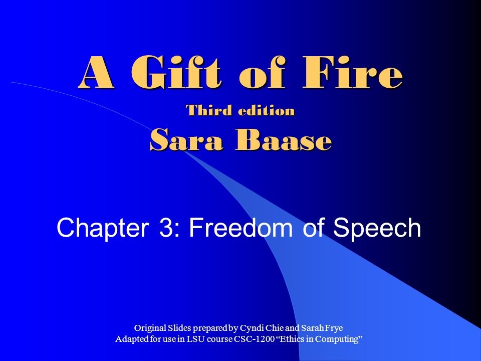 A Gift Of Fire 4Th Edition