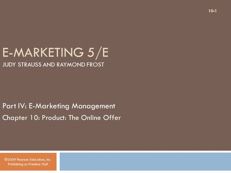 E-Marketing 7th Edition Strauss by Strauss Frost test bank