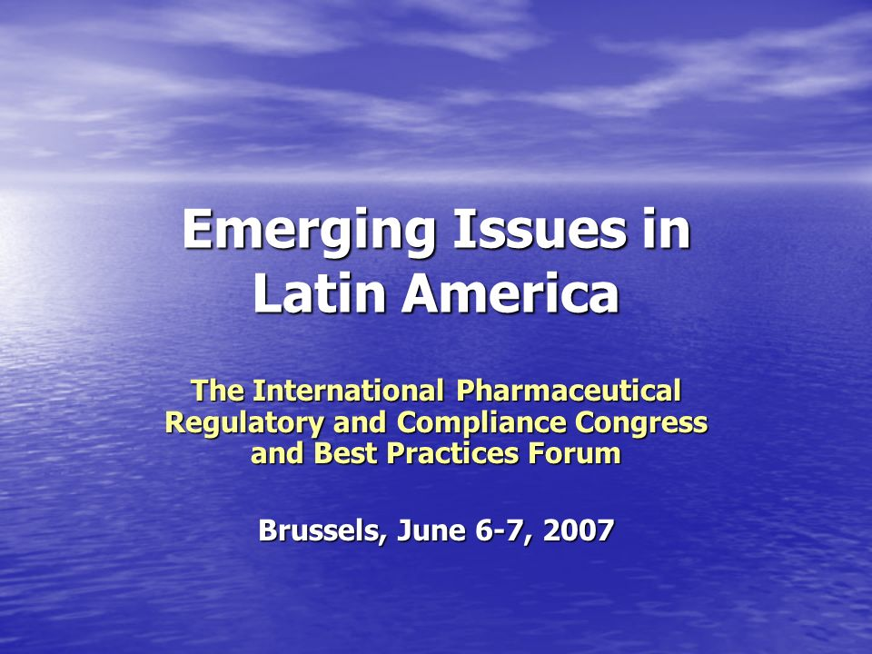 Emerging Issues in Latin America