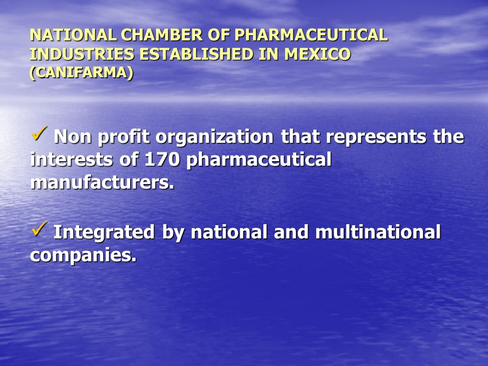 Integrated by national and multinational companies.