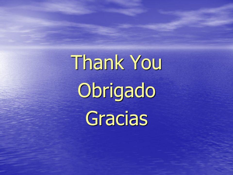 Thank You Obrigado Gracias