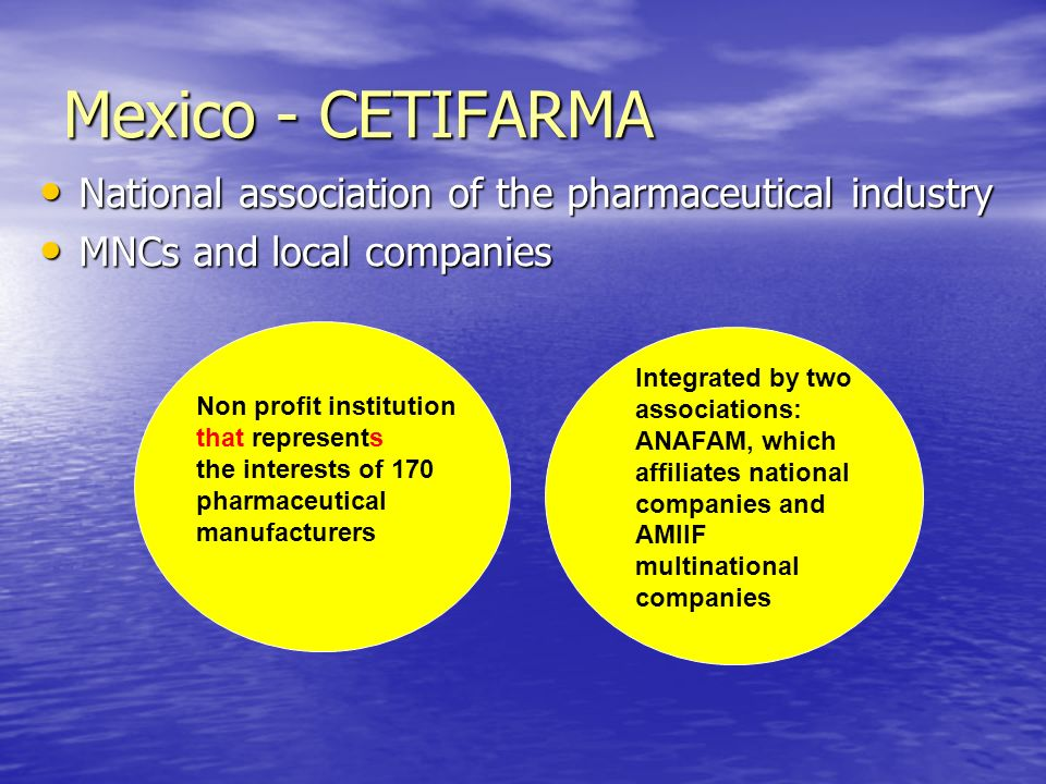 Mexico - CETIFARMA National association of the pharmaceutical industry