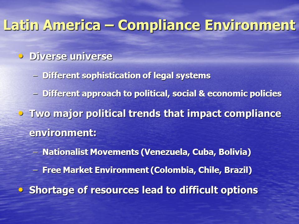 Latin America – Compliance Environment