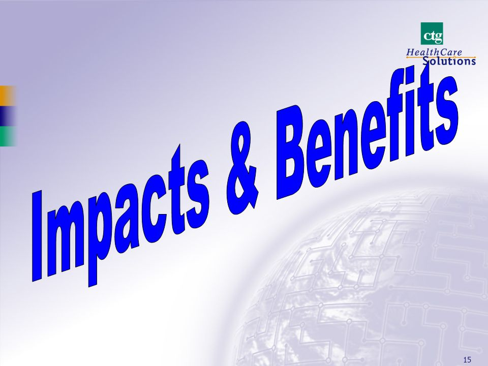 Impacts & Benefits