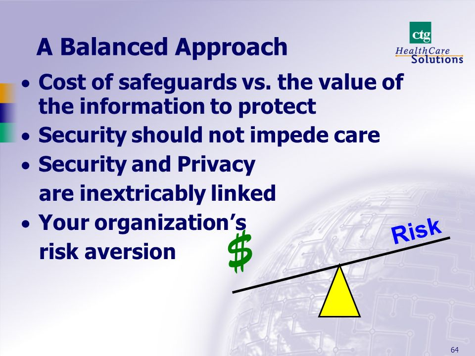 $ A Balanced Approach Risk