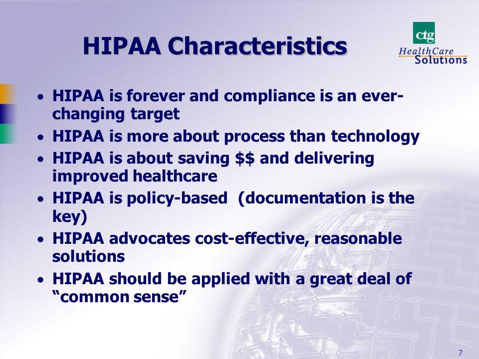 HIPAA Characteristics