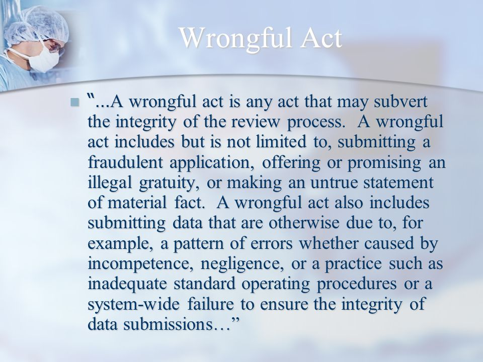 Wrongful Act