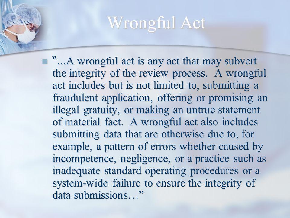 Wrongful Act