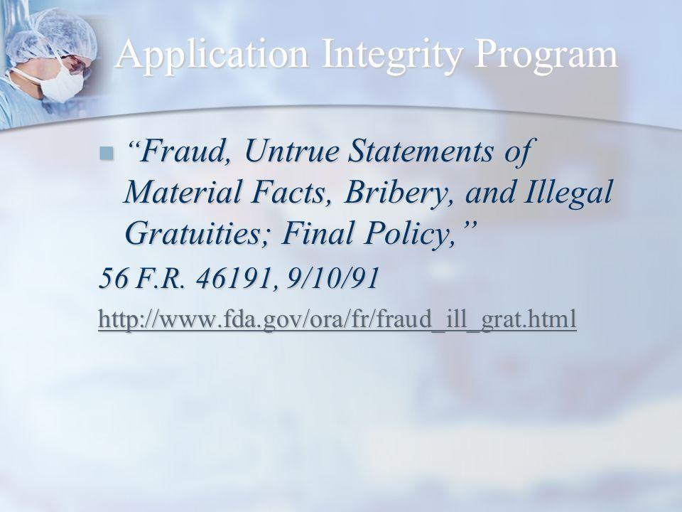 Application Integrity Program