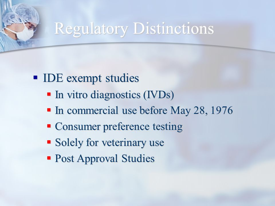 Regulatory Distinctions