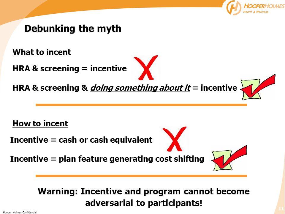 HRA & screening = incentive