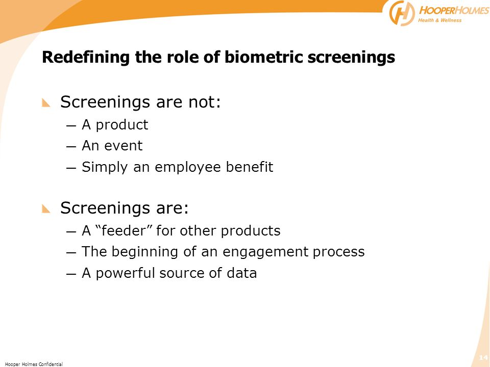 Redefining the role of biometric screenings