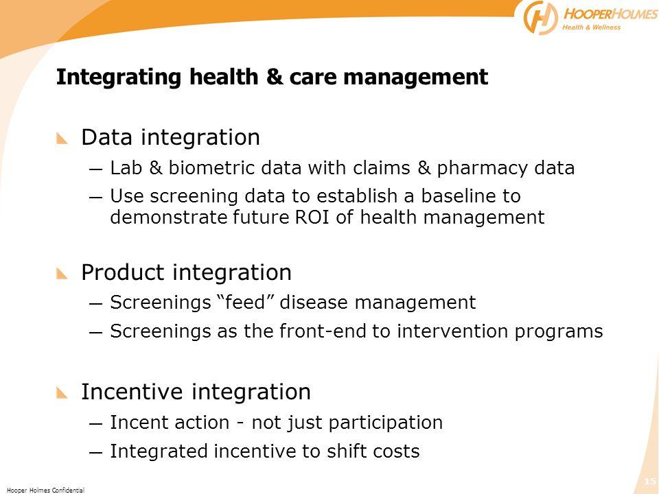 Integrating health & care management