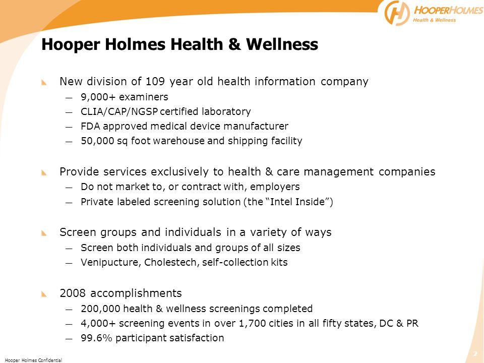 Hooper Holmes Health & Wellness