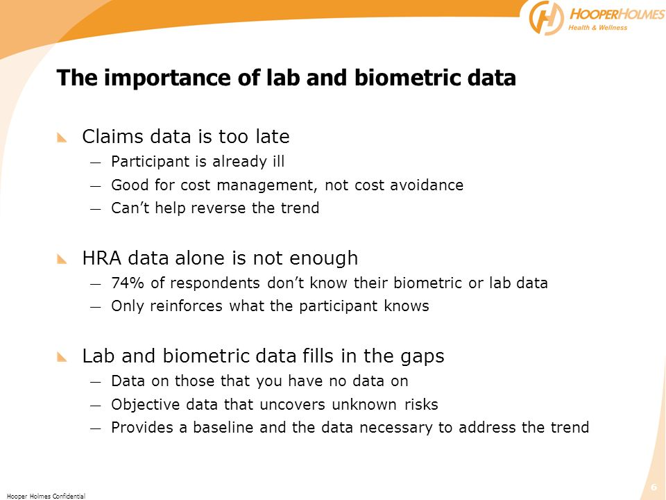 The importance of lab and biometric data