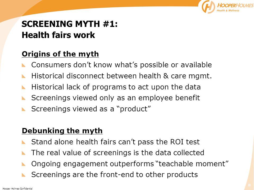 SCREENING MYTH #1: Health fairs work